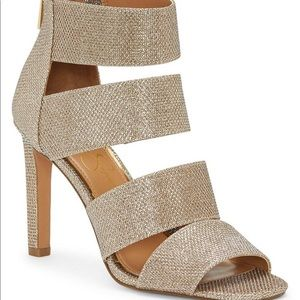 Jessica Simpson Metallic Gold Heel